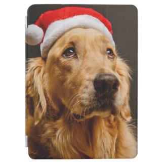 Golden Retriever posing for his Christmas iPad Air Cover