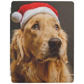 Golden Retriever posing for his Christmas iPad Smart Cover