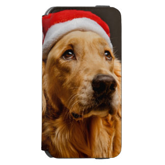 Golden Retriever posing for his Christmas iPhone 6/6s Wallet Case