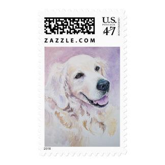 Golden retriever postage