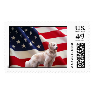 Golden Retriever Postage America