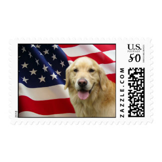 Golden Retriever Postage Stamp