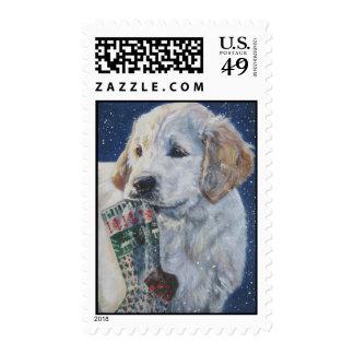 golden retriever postage stamp
