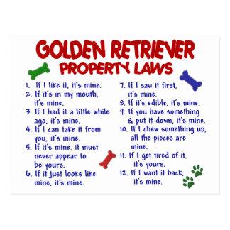 Golden Retriever Property Laws 2 Postcards