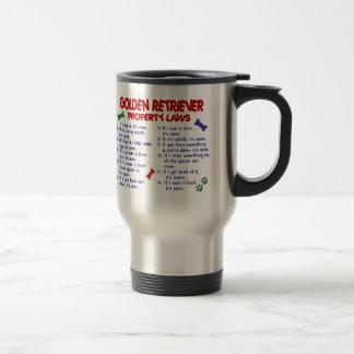 Golden Retriever Property Laws 2 Travel Mug
