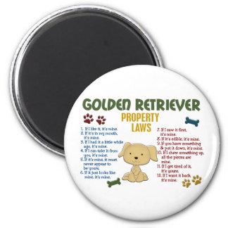 Golden Retriever Property Laws 4 Magnet