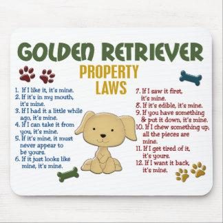 Golden Retriever Property Laws 4 Mouse Pad
