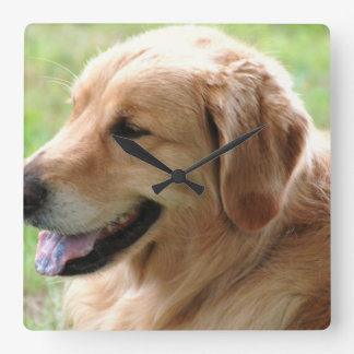 Golden Retriever Pup Clock