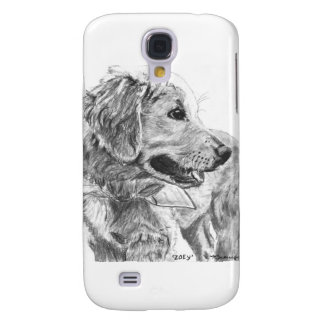 Golden Retriever Pup Drawing Galaxy S4 Cover