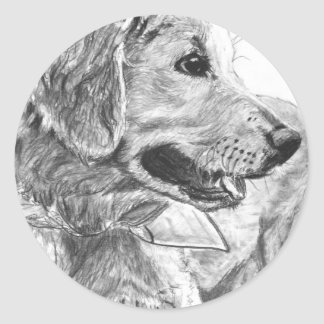 Golden Retriever Pup Drawing Stickers