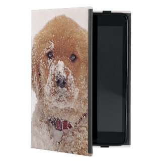 Golden Retriever Pup in Snow Cover For iPad Mini