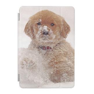 Golden Retriever Pup in Snow iPad Mini Cover