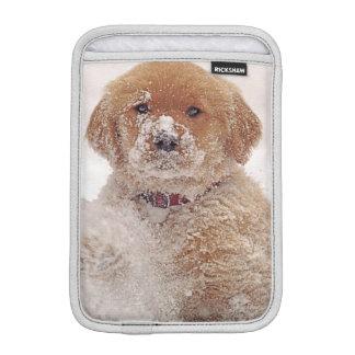 Golden Retriever Pup in Snow iPad Mini Sleeve