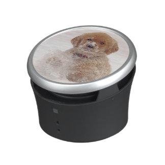 Golden Retriever Pup in Snow Speaker