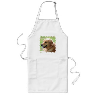 Golden Retriever Pup Long Apron
