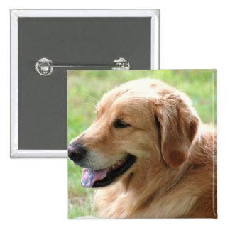 Golden Retriever Pup Pin