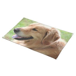 Golden Retriever Pup Placemat Cloth Placemat