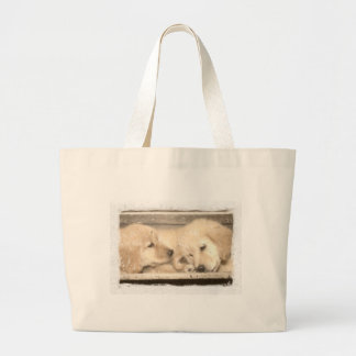 Golden Retriever Puppies Canvas Bags