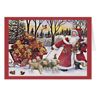Golden Retriever Puppies Christmas Card SantaBears