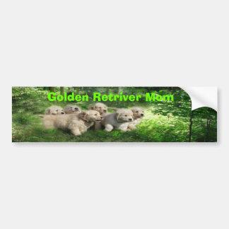 Golden Retriever Puppies Mom Bumper Sticker