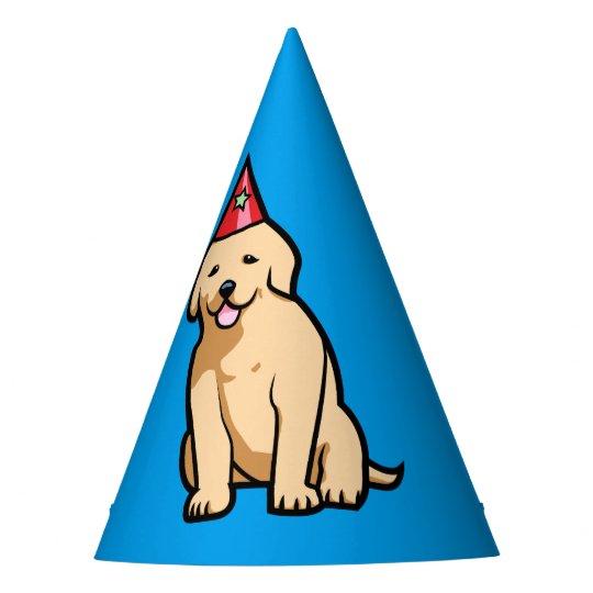 Golden Retriever Puppy Birthday Party Hat Zazzlecom