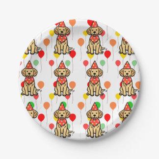 Golden Retriever Puppy Birthday Party Plates