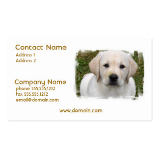 Golden Retriever Puppy Business Card