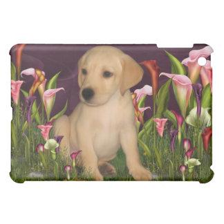 Golden Retriever Puppy Calla Lily  iPad Mini Covers