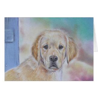 Golden Retriever Puppy Card