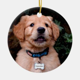 Golden Retriever Puppy Ceramic Ornament