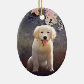 Golden Retriever Puppy Ceramic Ornament