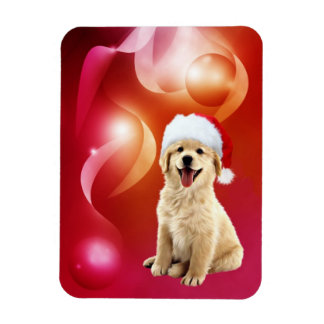 Golden Retriever puppy Christmas Magnet