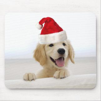 Golden Retriever Puppy Christmas Mousepad