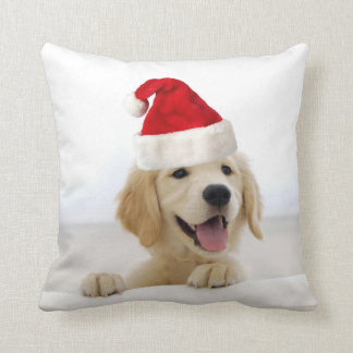 Golden Retriever Puppy Christmas Pillow