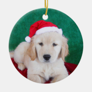Golden Retriever Puppy Christmas Tree Ornament
