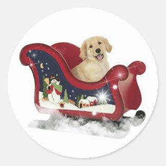 Golden Retriever Puppy Classic Round Sticker