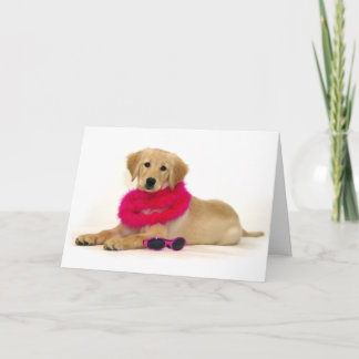 Golden Retriever Puppy Diva Card