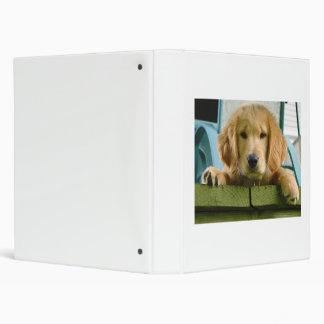 Golden Retriever Puppy Dog Canis Lupus Familiaris 3 Ring Binder
