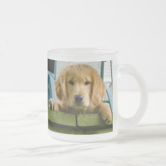 Golden Retriever Puppy Dog Canis Lupus Familiaris Frosted Glass Coffee Mug