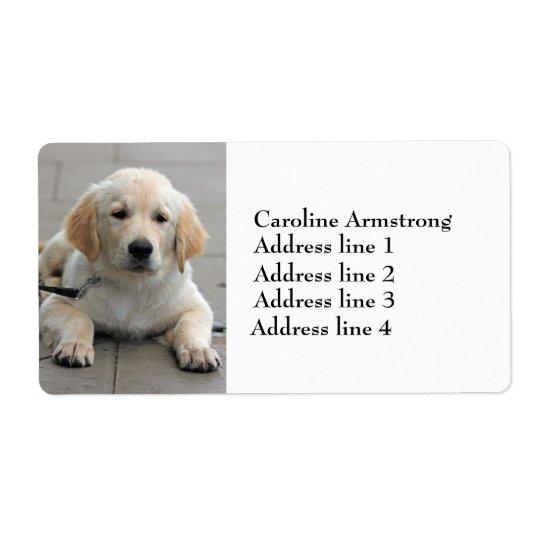 Golden Retriever puppy dog custom address labels