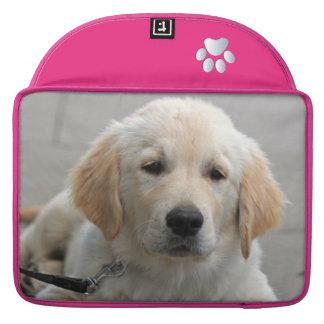 Golden Retriever puppy dog cute beautiful photo Sleeve For MacBooks
