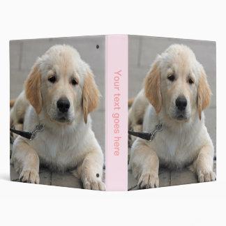 Golden Retriever puppy dog cute photo album, gift 3 Ring Binder