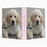 Golden Retriever puppy dog cute photo album, gift Vinyl Binders