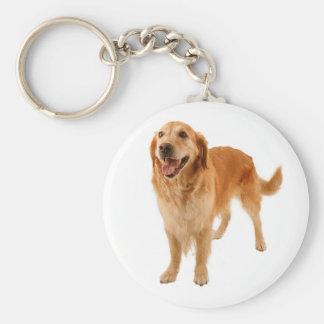 Golden Retriever Puppy Dog Love Keychain