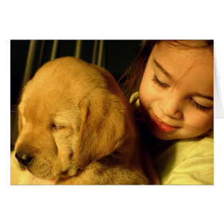 Golden Retriever Puppy Dog Photograph Card
