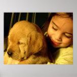 Golden Retriever Puppy Dog Photograph Print