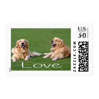 Golden Retriever Puppy Dog US Postage Stamps