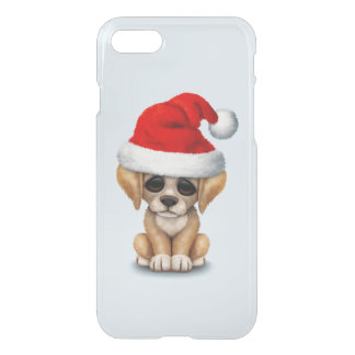 Golden Retriever Puppy Dog Wearing a Santa Hat iPhone 8/7 Case