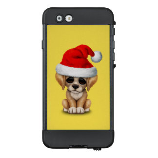 Golden Retriever Puppy Dog Wearing a Santa Hat LifeProof NÜÜD iPhone 6 Case