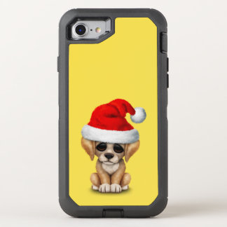 Golden Retriever Puppy Dog Wearing a Santa Hat OtterBox Defender iPhone 8/7 Case